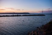 Západ slunce na jezeře Balaton