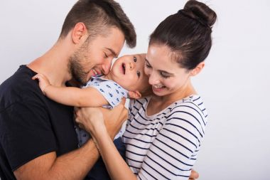 young couple with a little boy .