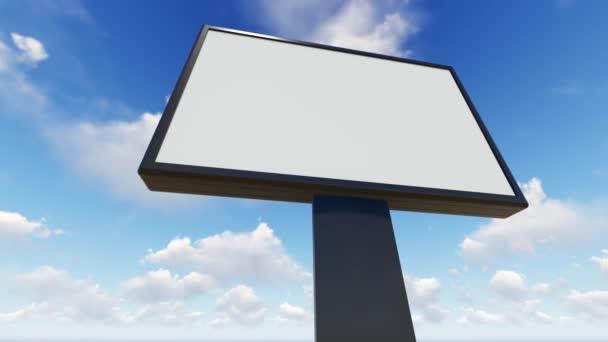 Billboard prázdné pro venkovní reklamní plakát