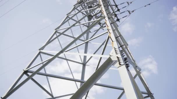 High voltage line, post, clear sky, steel design