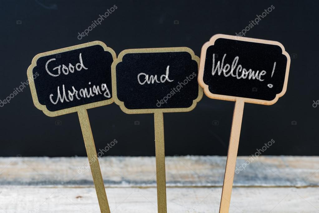 Gruß Nachricht Guten Morgen Und Herzlich Willkommen Mit