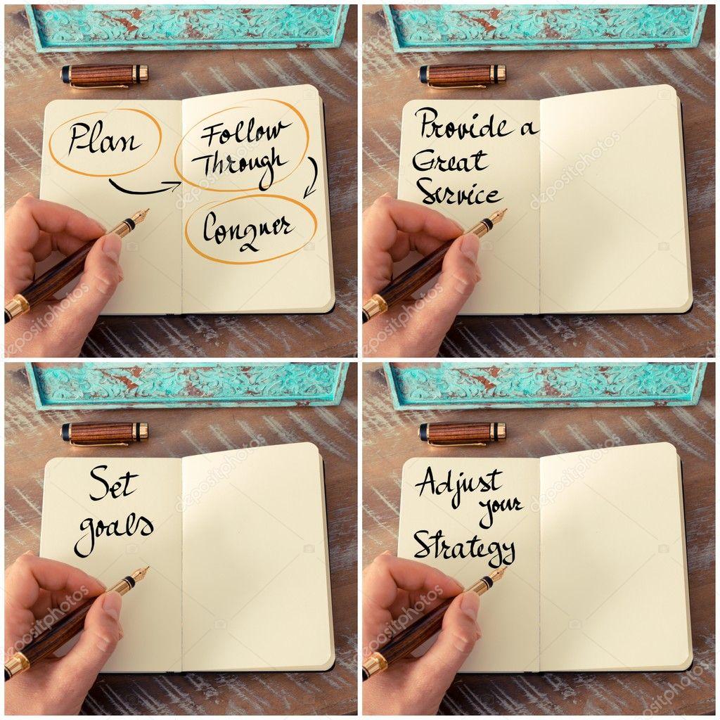 Collage De Fotos De Mensajes Motivacionales Negocios