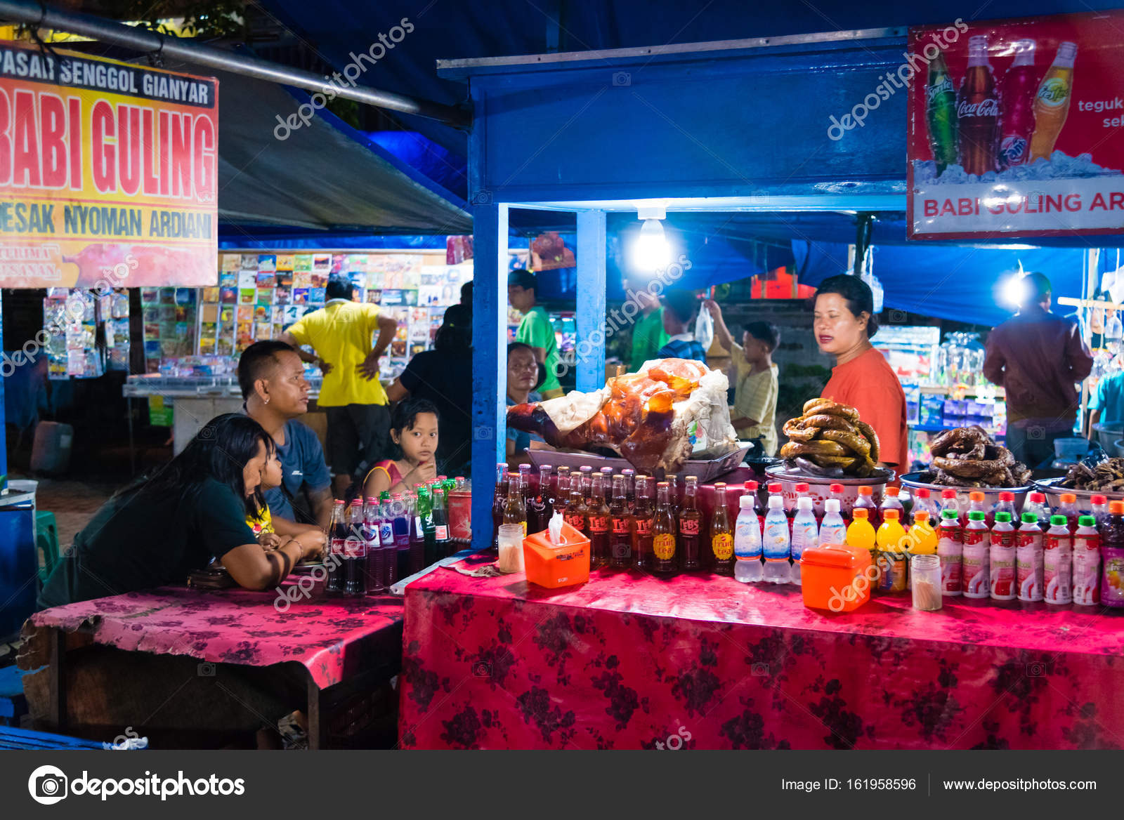 Gianyar Night Market In Province Bali Indonesia Stock Balinese Traditional May 8 2017 Is A Top Destination For Hungry Locals And Tourists Offering Large Variety Of