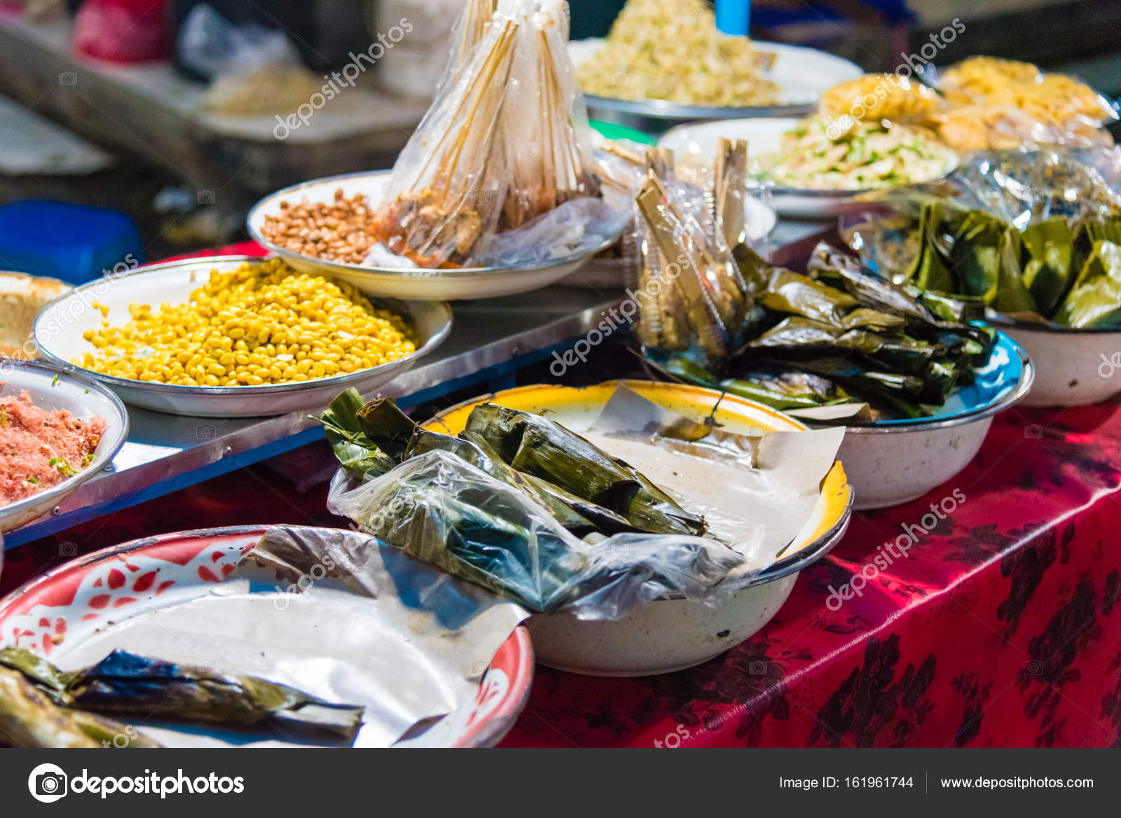 Food Stalls At Gianyar Night Market In Bali Indonesia