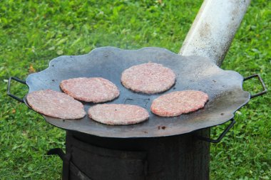 Barbecue Burgers Village Style