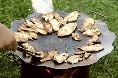 Grilled Chicken Barbecue Village Style