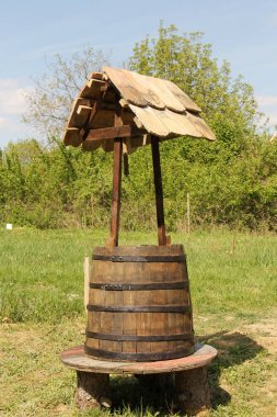 Rural traditional wishing well