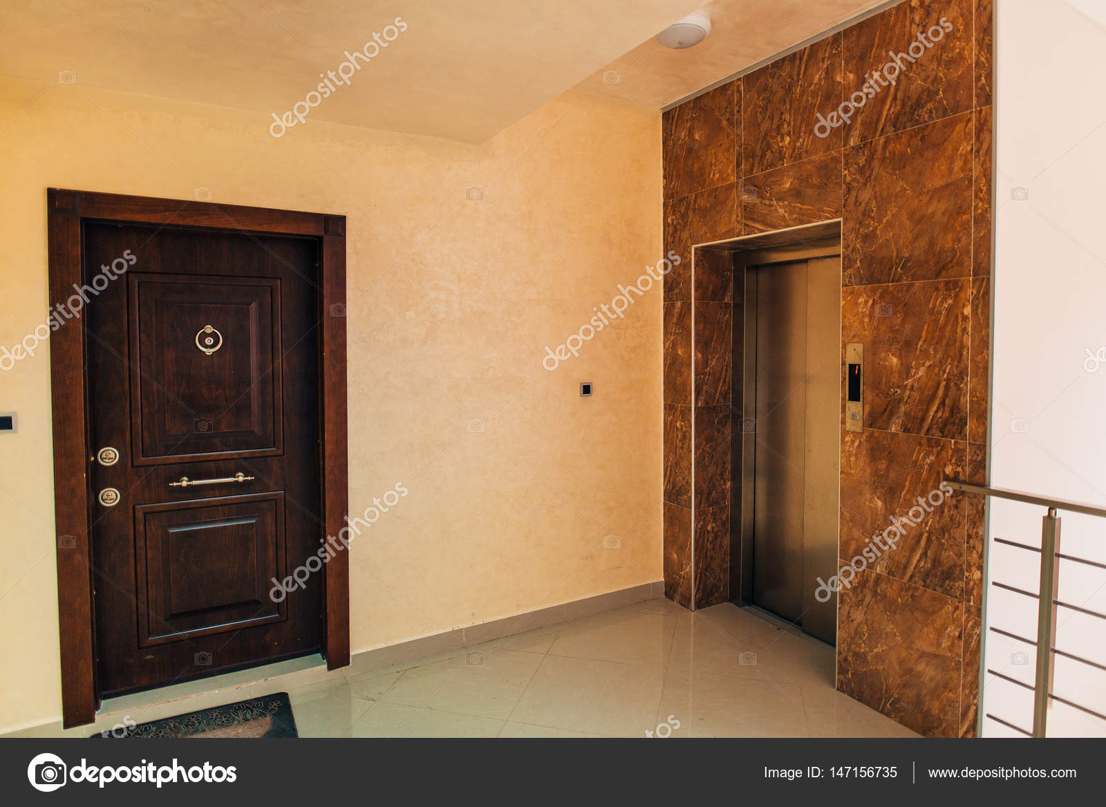 The Front Door To The Inside Apartment U2014 Photo By Nadtochiy