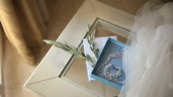 Nevěsta šperky. Náušnice, náhrdelníky, prsteny, hodinky
