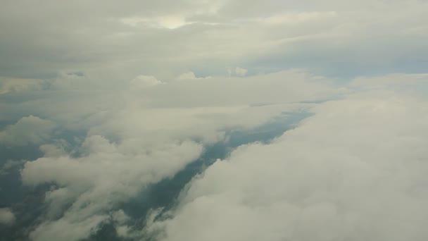 Mraky pohled z letadla