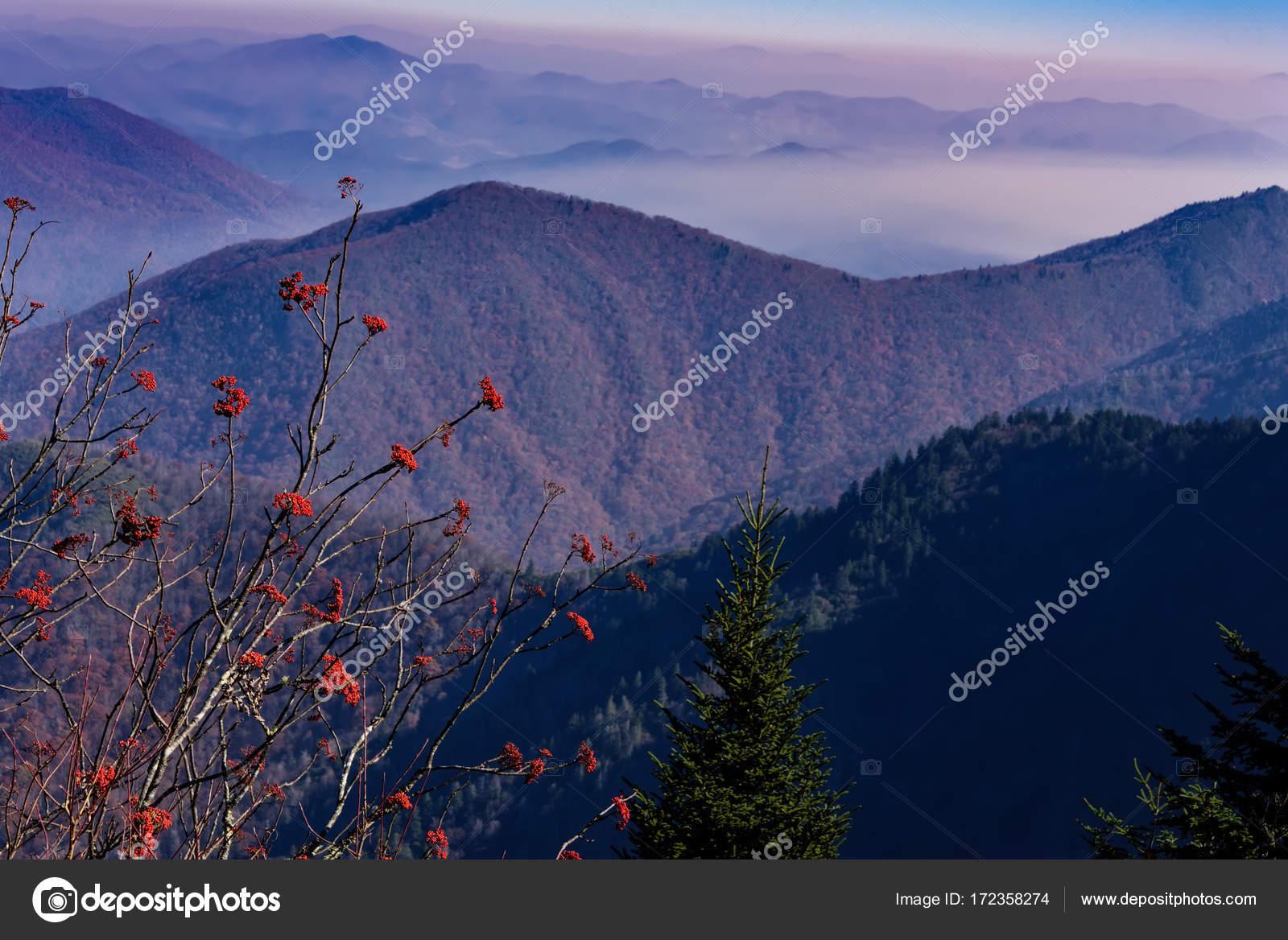 Blue Ridge Mountains North Carolina Stock Photo