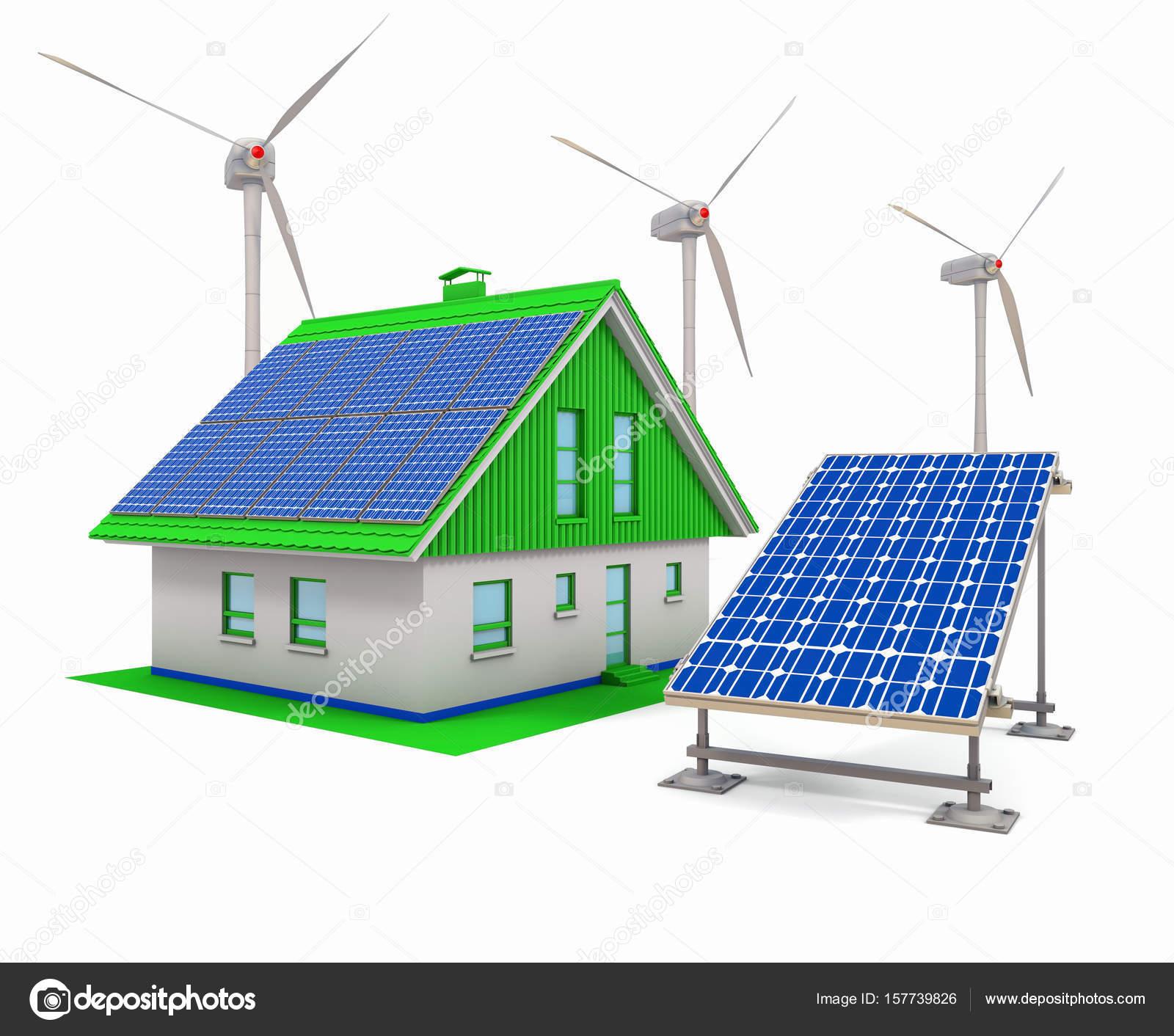 Turbinas eolicas para casas casa el ctricos paneles - Casas con placas solares ...