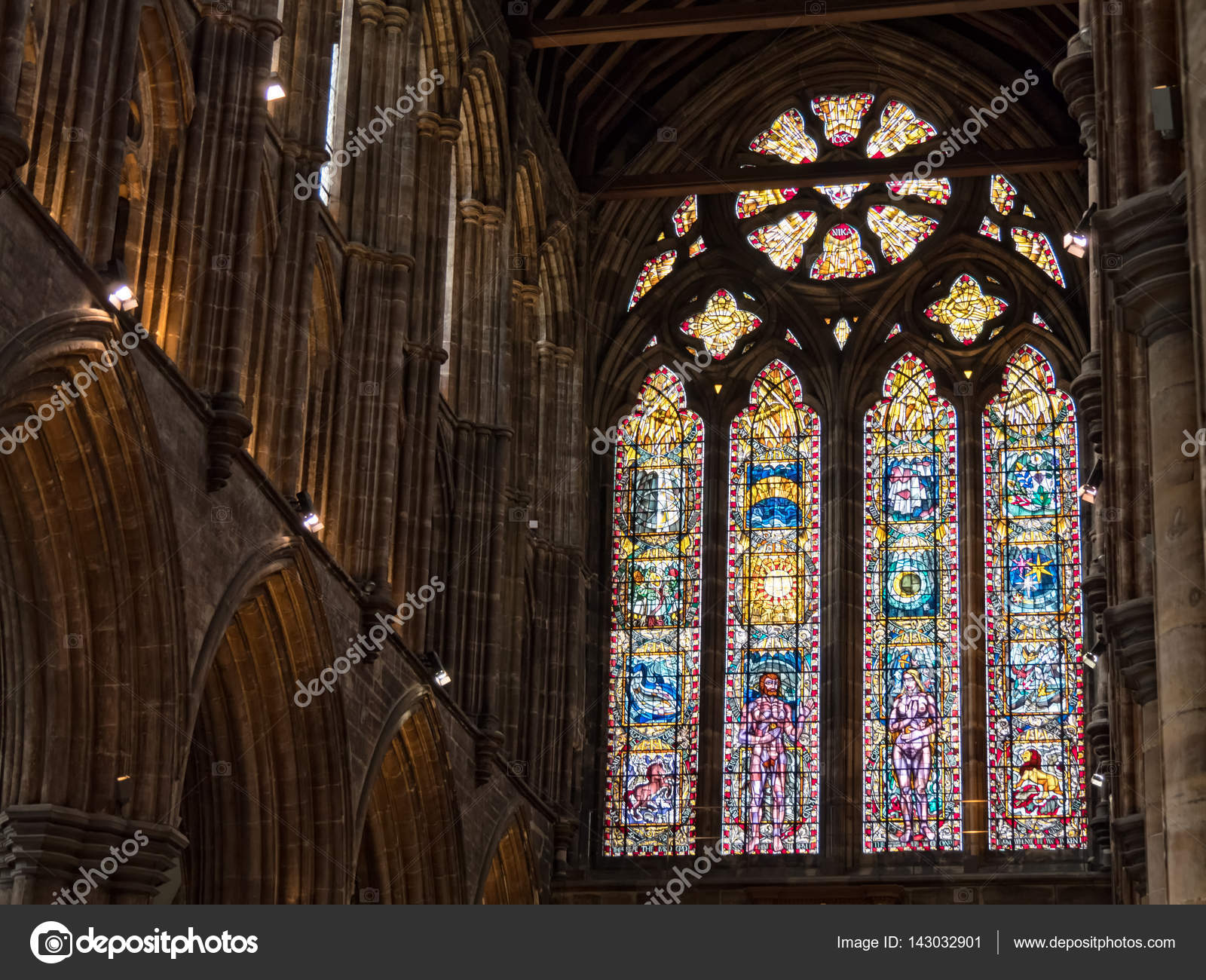 Windows Of Glasgow Cathedral Stock Editorial Photo C Dolfilms