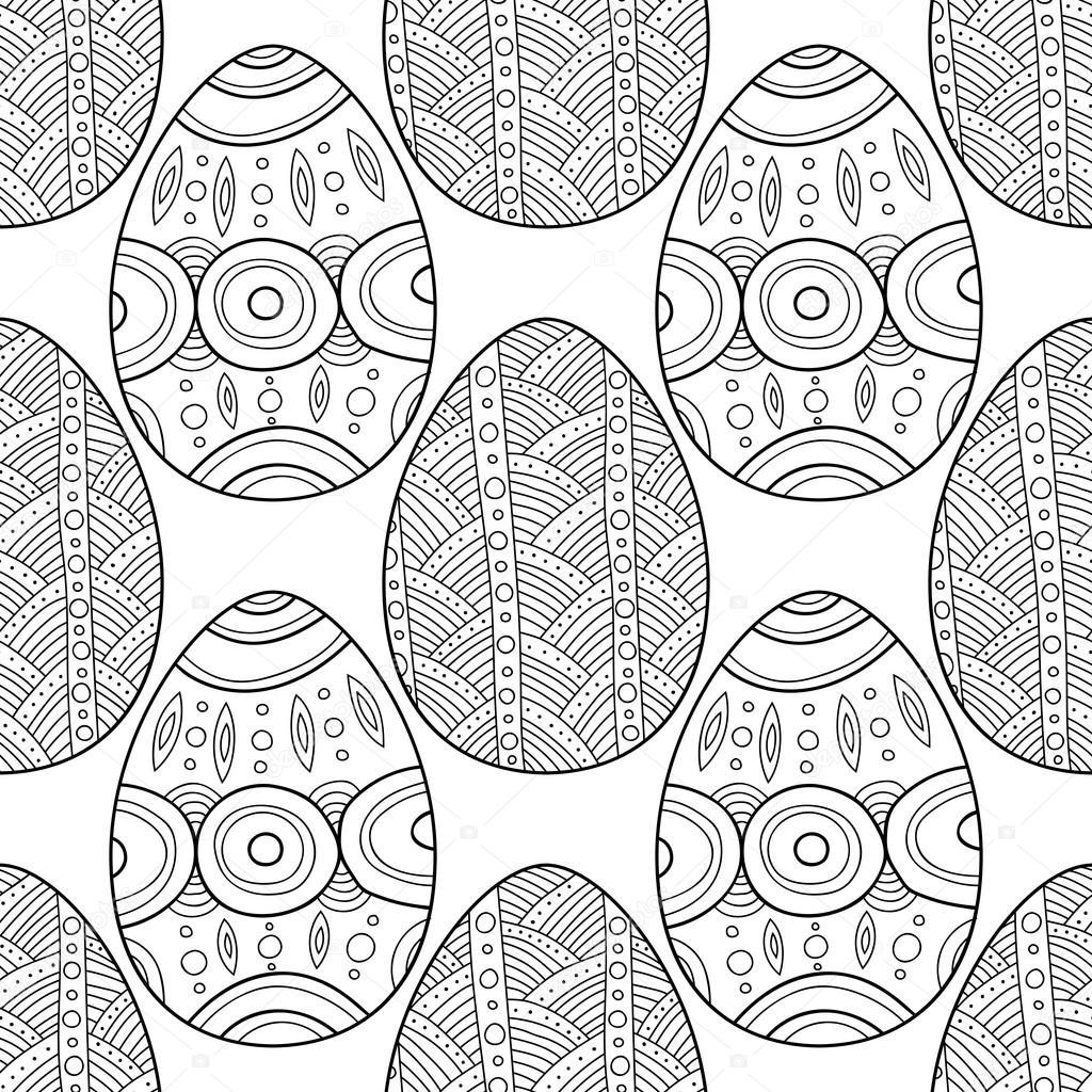 Schwarz, weiß Musterdesign dekorative Eier für Malvorlagen ...