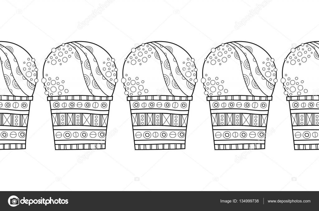 Cenefa con helado con dibujos para la decoración, colorear ...