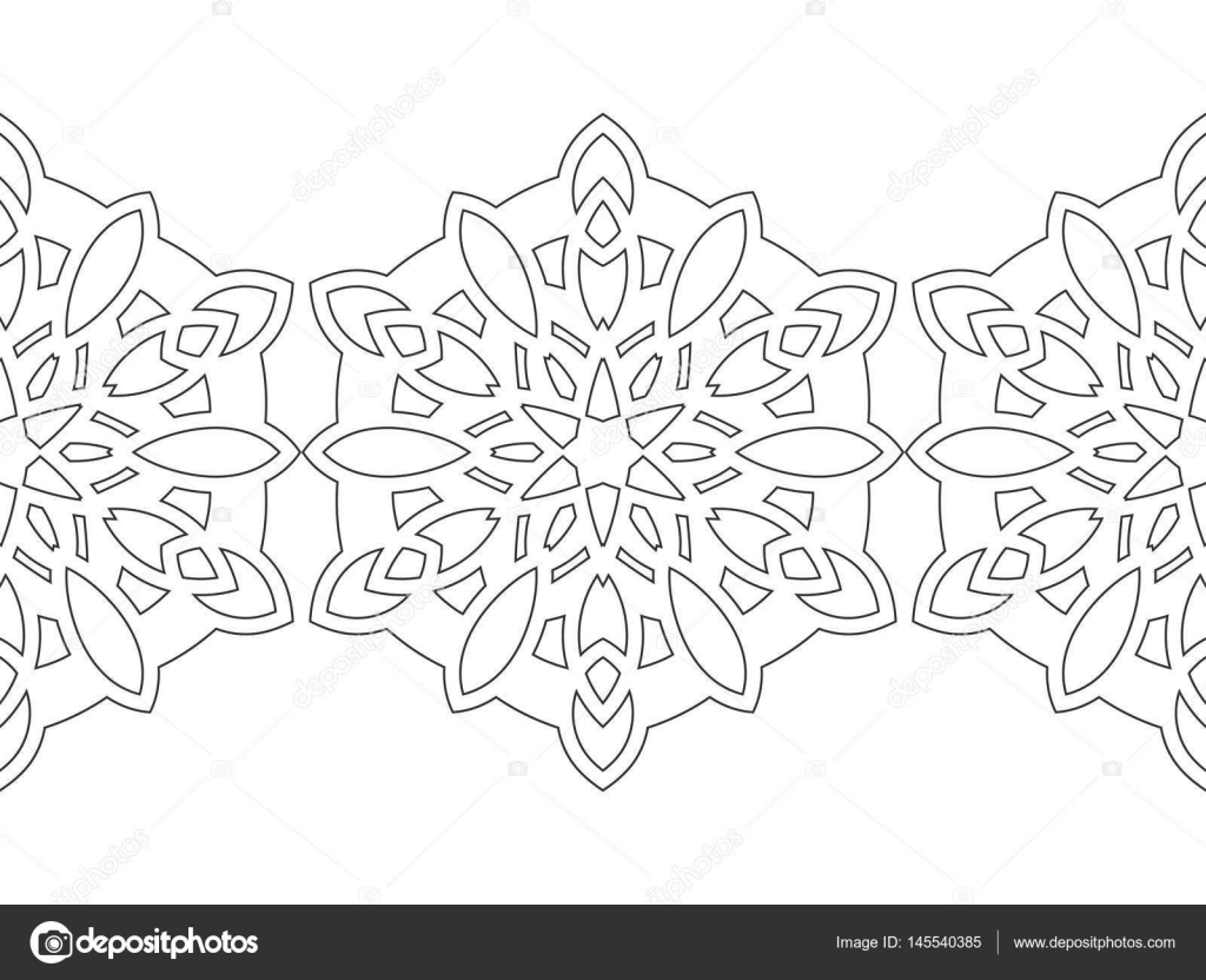 Blanco y negro los copos de nieve para colorear libro. Decoraciones ...