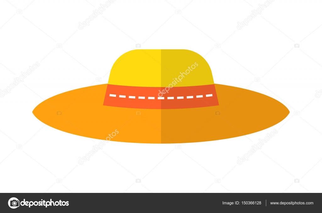 07b69d05444 Καπέλο ήλιο, προστατευτικά ρούχα. Επίπεδη χρώματος εικονίδιο και το  αντικείμενο των αξεσουάρ μόδας — Διάνυσμα με lilipom
