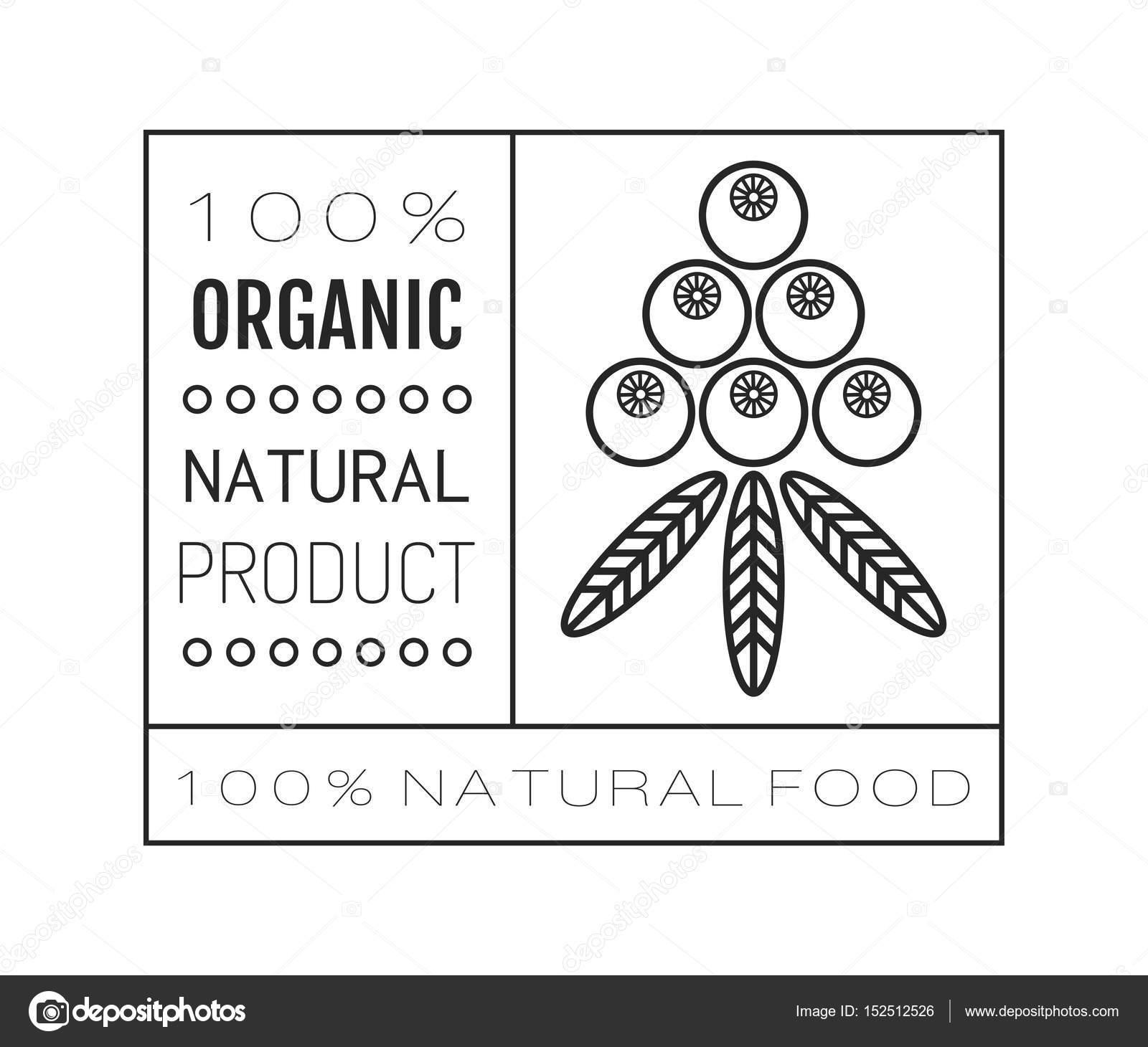 Bio-Lebensmittel. Logo, Abzeichen, Label für gesunde Ernährung ...