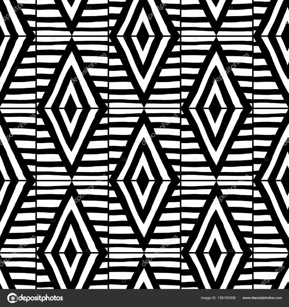 Resumen de patrones sin fisuras. Blanco y negro ilustración de ...