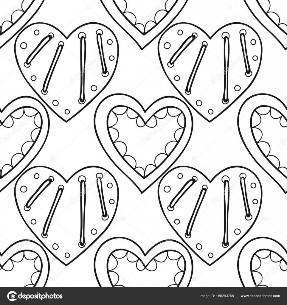 Corazones decorativos. Ilustración transparente blanco y negro ...