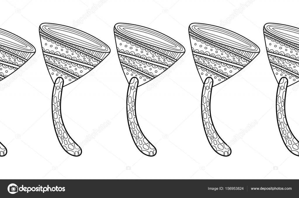 Setas decorativas, ornamentales. Ilustración blanco y negro para ...