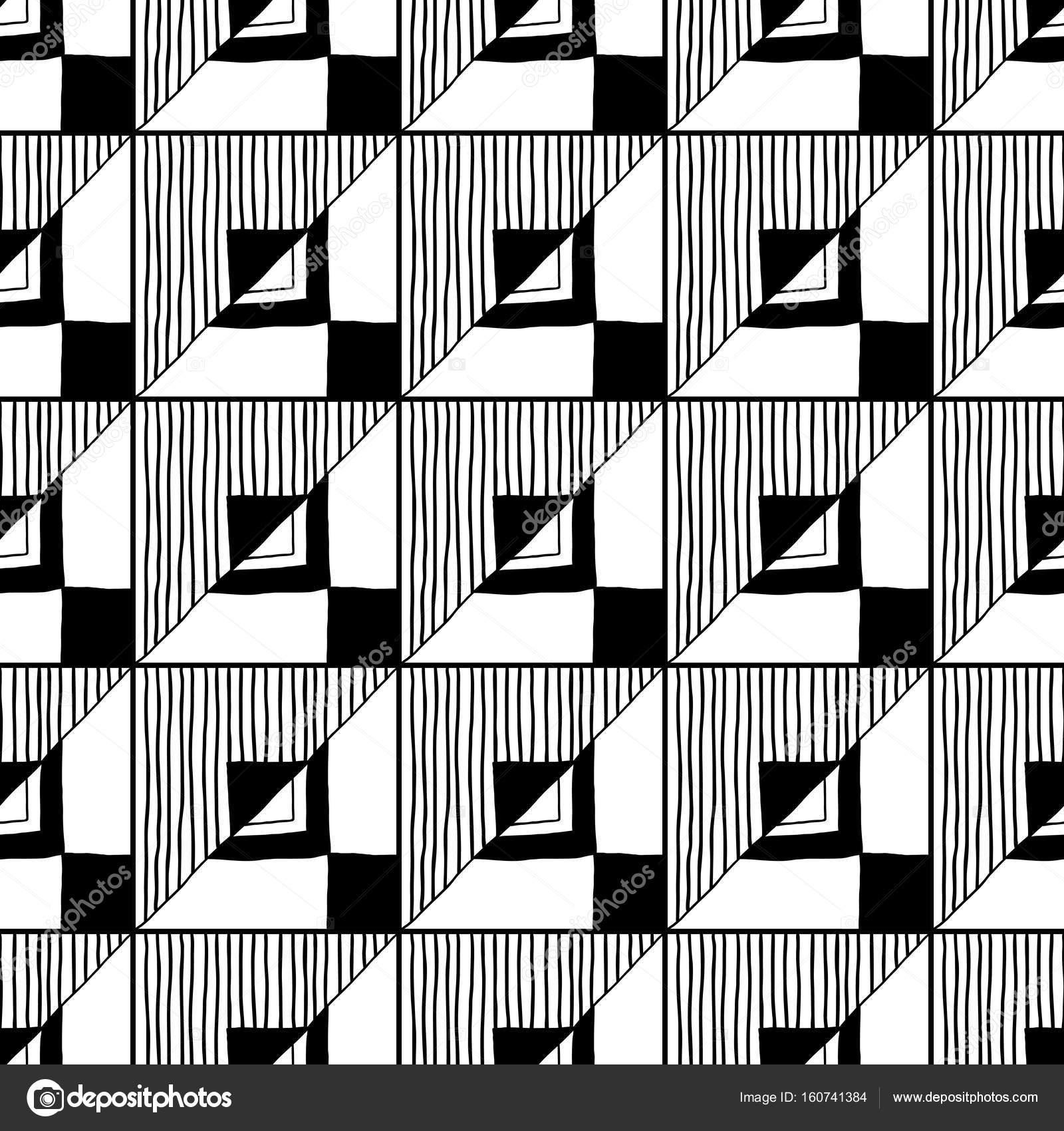 Soyut Seamless Modeli Siyah Beyaz Resim Boyama Kitapları Için Arka