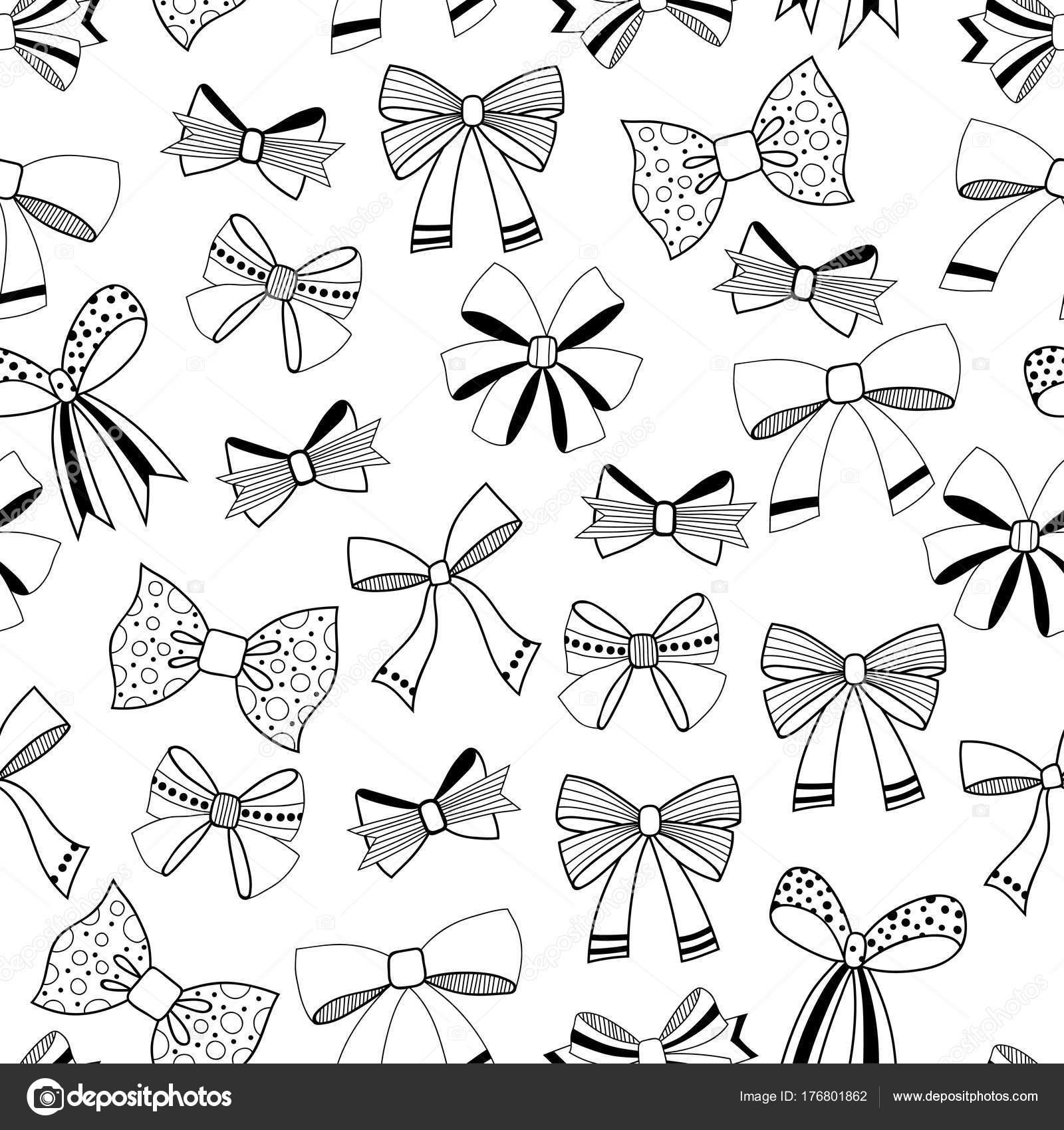 Bögen. Schwarz / weiß Darstellung, nahtlose Muster für Malvorlagen ...