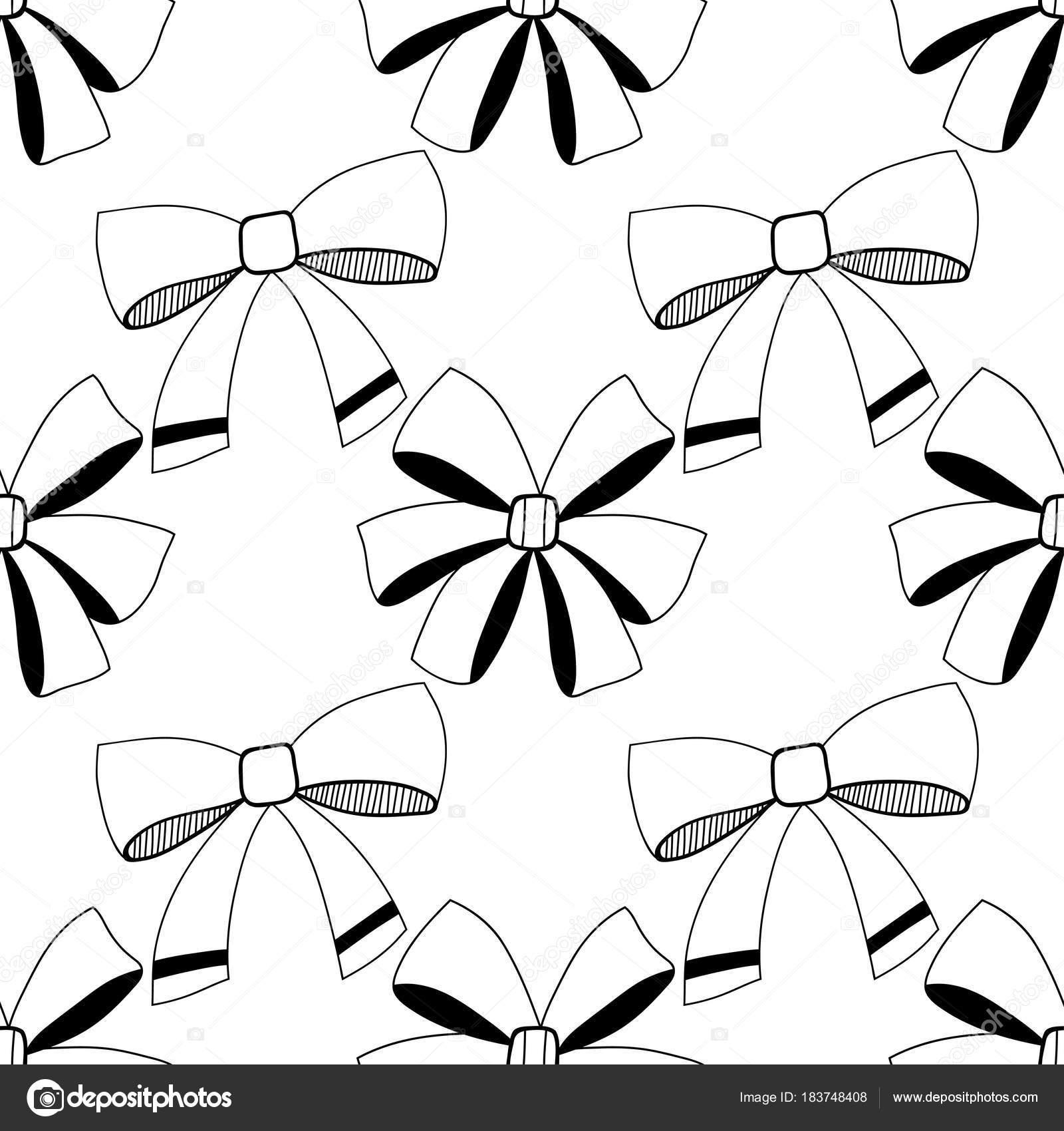 Arcos. Ilustración blanco y negro, de patrones sin fisuras para ...