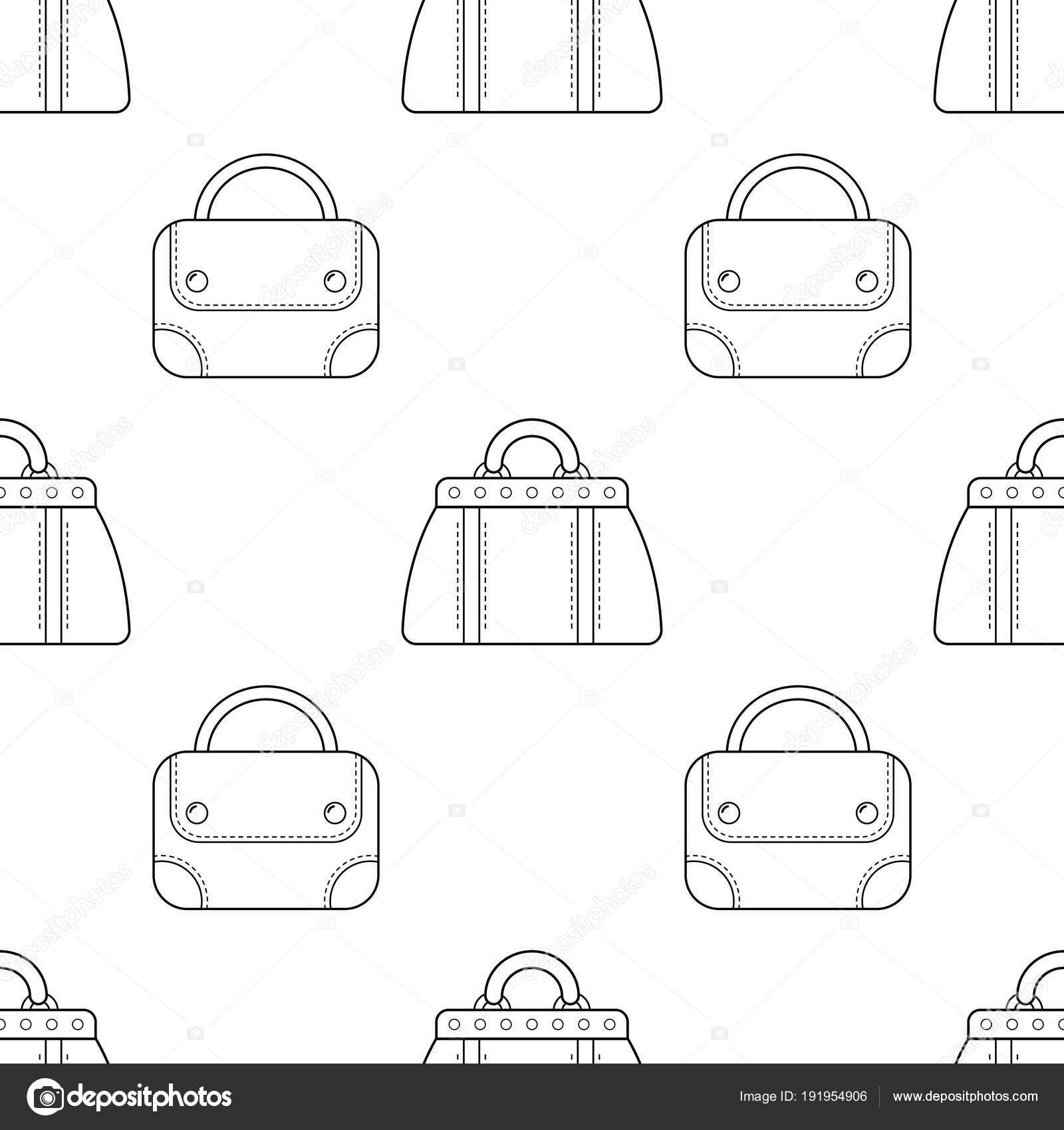 Imágenes Pantalon Corto Para Colorear Bolsos De Moda Blanco Y
