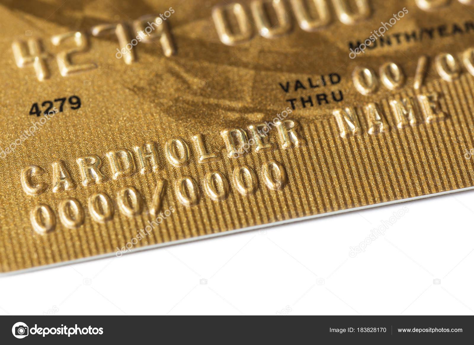 Carte Bancaire Or.Fragment D Une Carte Bancaire D Or En Plastique