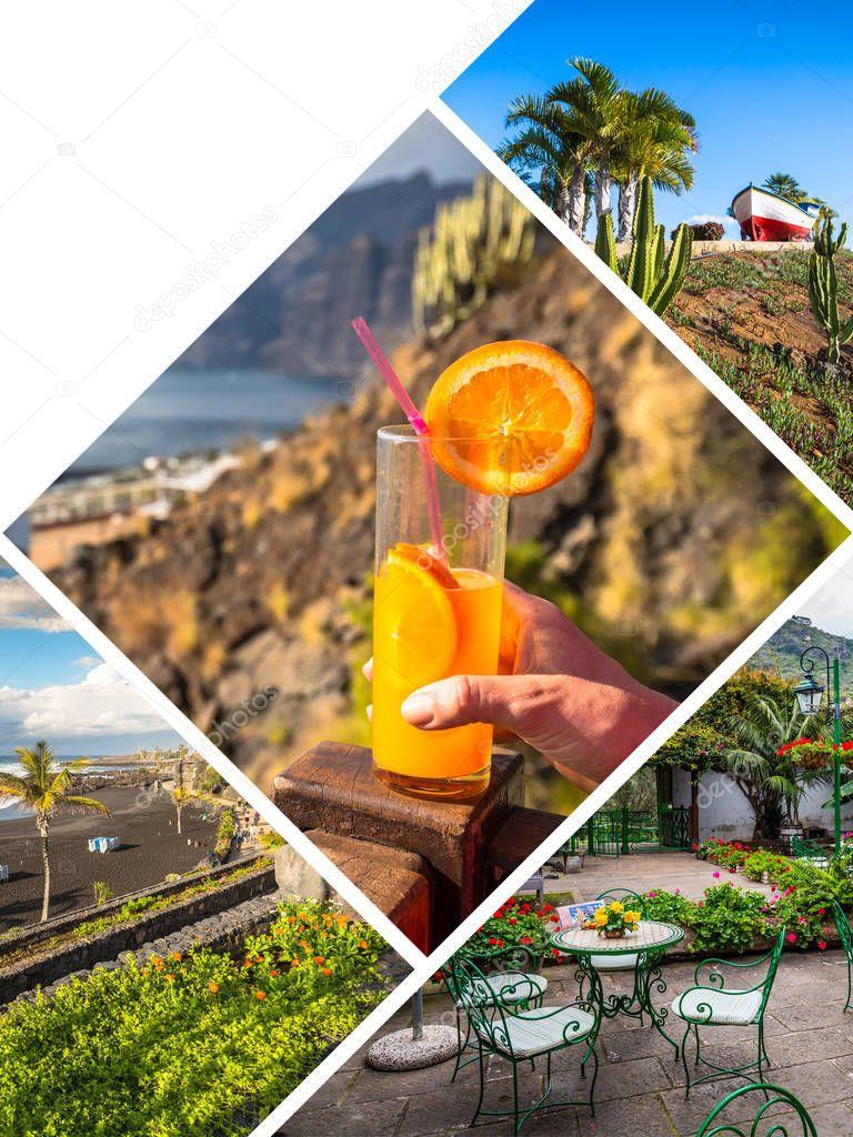 Collage of Tenerife Spain Europe