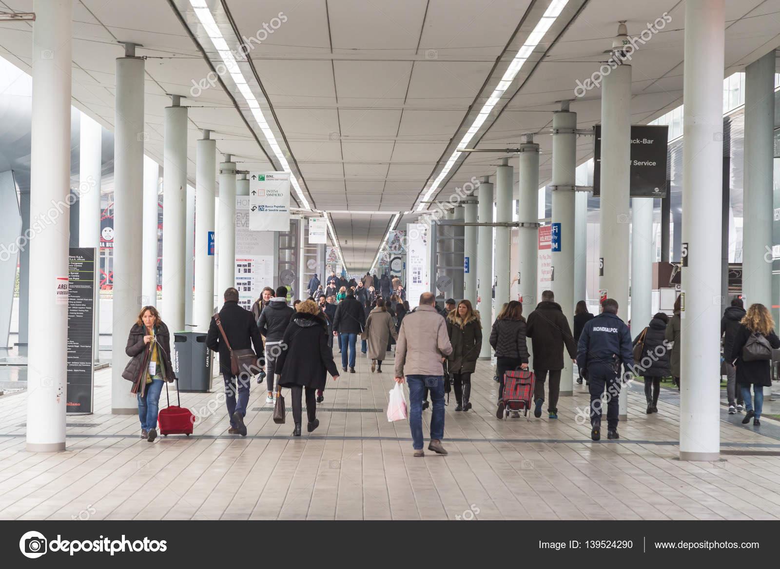 People Visiting HOMI 2017 In Milan, Italy U2014 Stock Photo