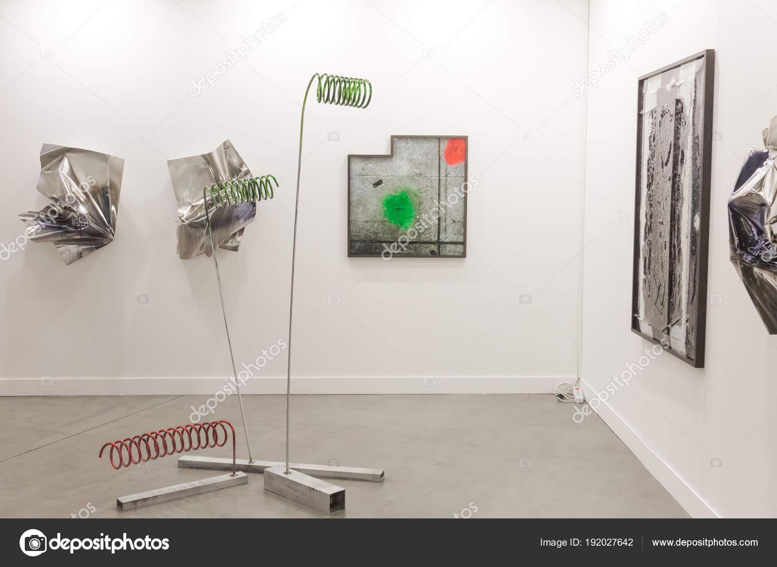 Artworks At Miart 2018 In Milan Italy Stock Editorial