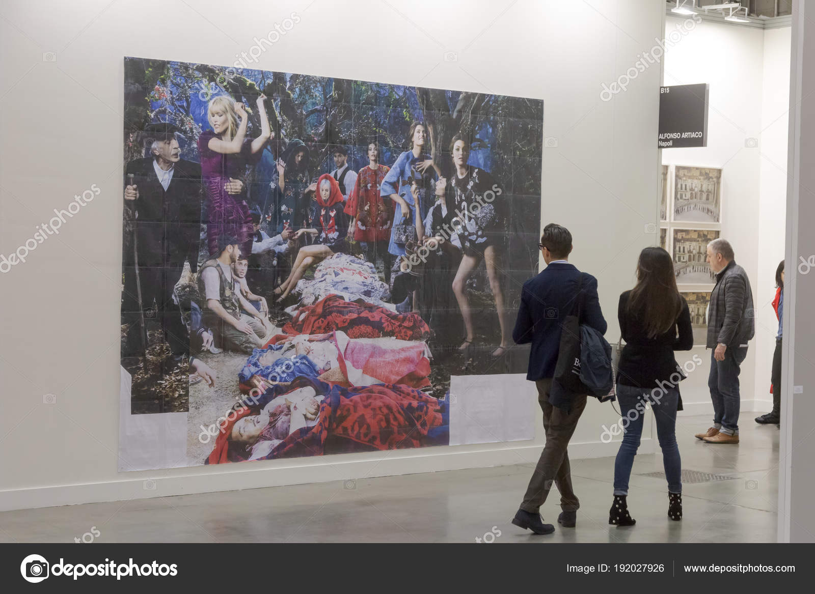 People Visiting Miart 2018 In Milan Italy Stock Editorial