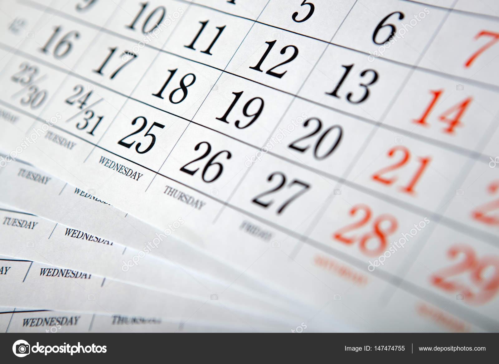 カレンダー シートの杭をクローズ アップ ストック写真 mizar 219842