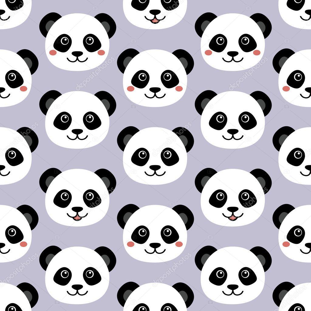 cara de panda lindo fondo de pantalla de dibujos animados