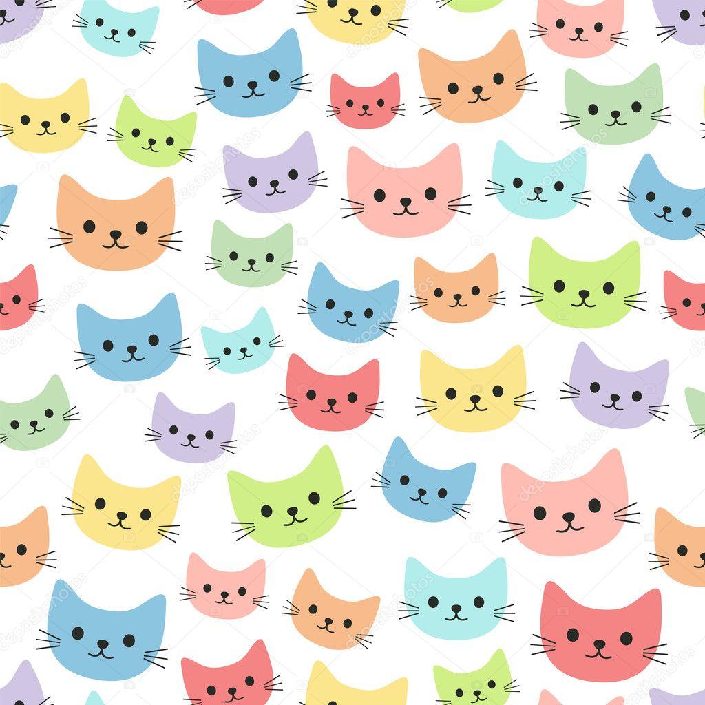 Dibujos Animados Fondos De Pantalla Gatos De Colores Dibujos