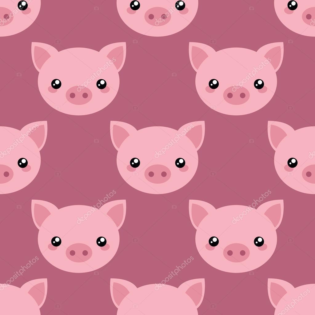 Pig face wallpaper stock vector el4anes 126657136 - Pig wallpaper cartoon pig ...