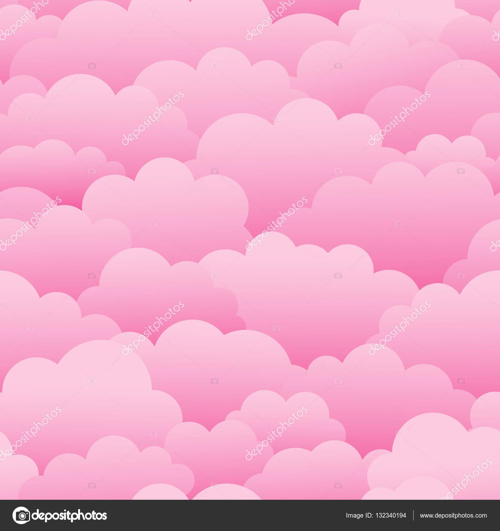 Fotos Nubes Rosas Nubes Rosas Patron Transparente De Vector