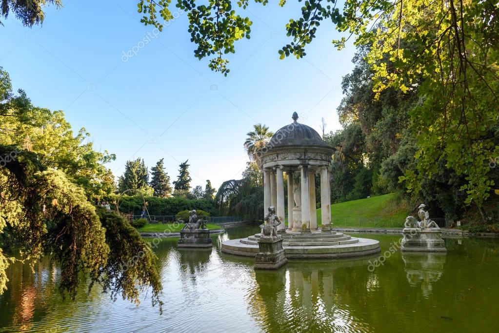 The beautiful Park of Villa Pallavicini, in Genua, Italy
