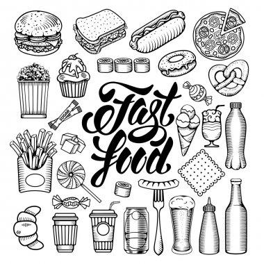 Fast Food elements set