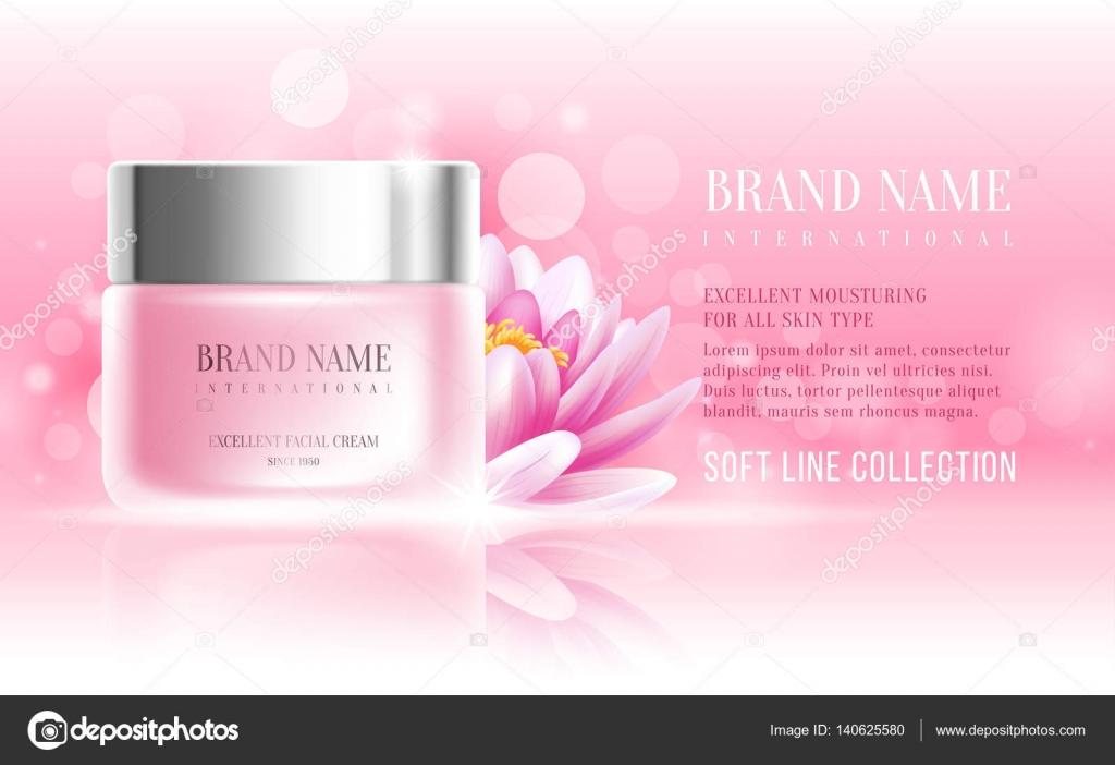 Plantilla de diseño de anuncio de cosméticos — Vector de stock ...