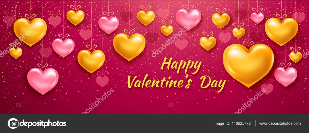 Valentines Day Facebook Cover Stock Vector C Pazhyna 140625772