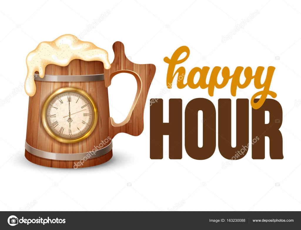Happy Hour Poster Template Stock Vector C Pazhyna 163230088