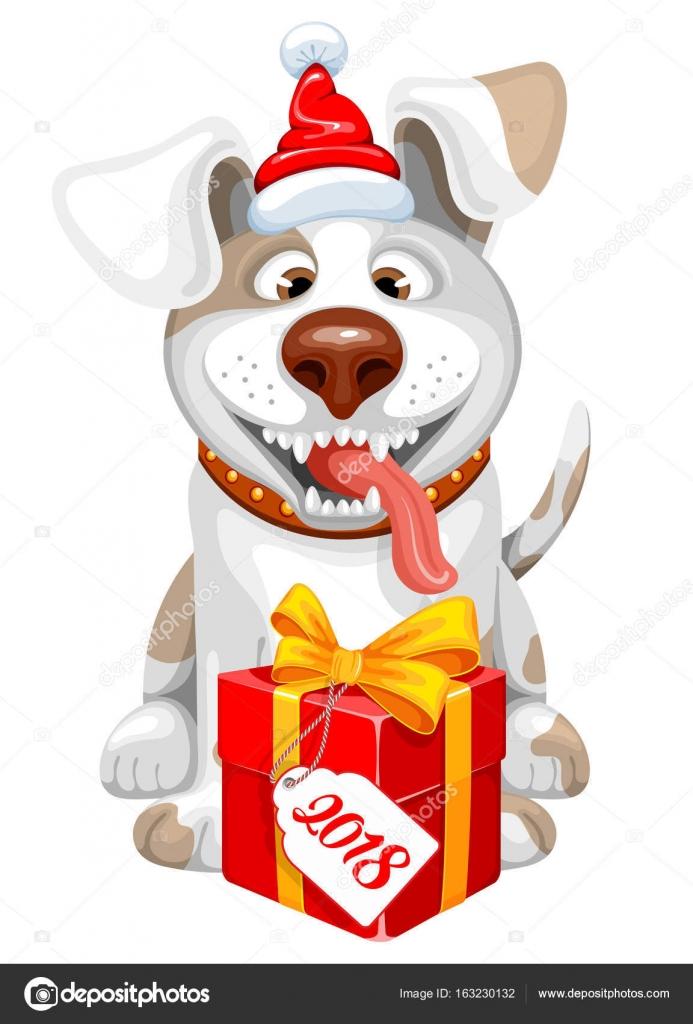 Frohes neues Jahr-Hund — Stockvektor © Pazhyna #163230132