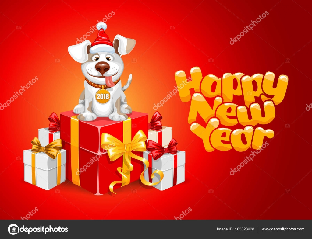 New Year Congratulation Stock Vector Pazhyna 163823928