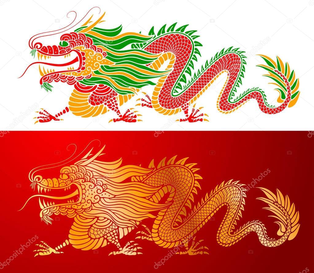 Dessin de dragon chinois image vectorielle pazhyna 181078364 - Dessin de dragon chinois ...