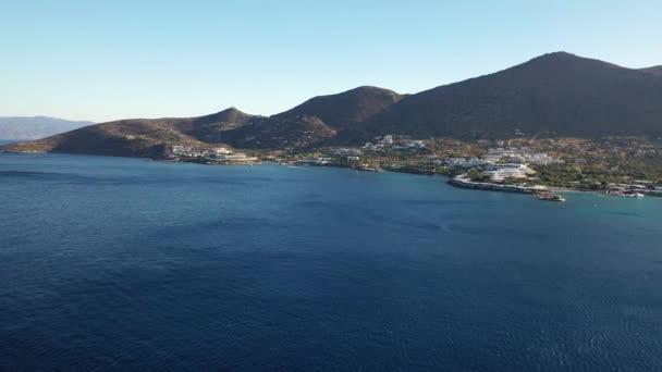 Letecký pohled na Eloudu, ostrov Kréta, Řecko