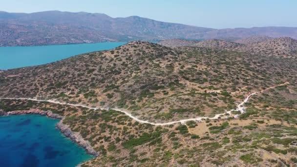 Letecký pohled na ostrov Kalydon, Kréta, Řecko