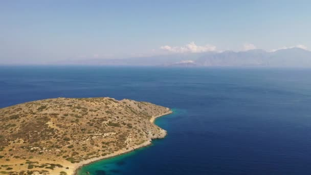 Aerial view of Kalydon Island, Crete, Greece